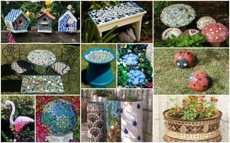 Terrassen und Gartengestaltung Bilder - Mosaik im Garten