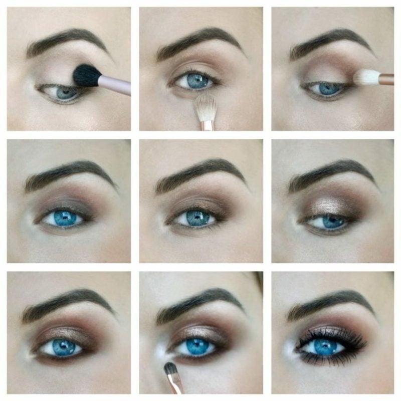 Augen richtig schminken Bilderanleitung