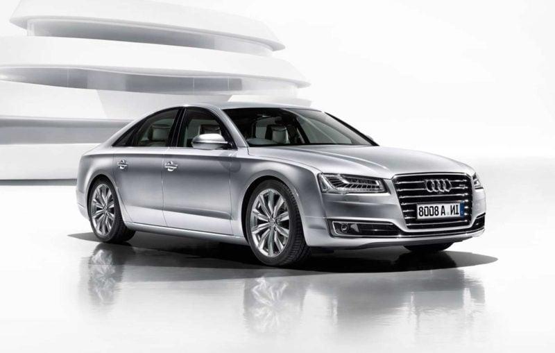 Audi A8 silbern geile Autos