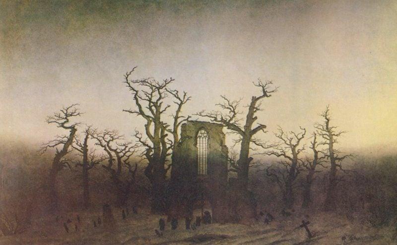 romantische Bilder Caspar David Friedrich Abtei im Eichwald