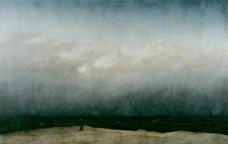 Romantik Epoche Merkmale des Lebens Caspar David Friedrich Der Mönch am Meer