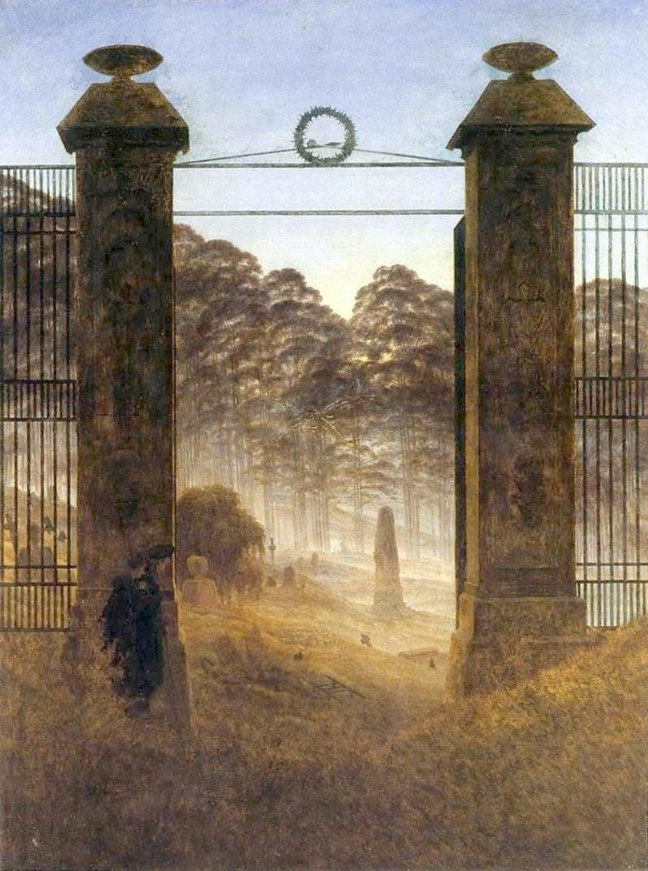 romantische Bilder Caspar David Friedrich Friedhofseingang