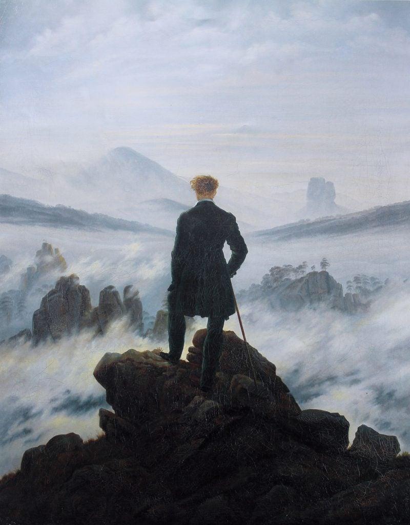 Epoche Romantik Caspar David Friedrich Wanderer über dem Nebelmeer