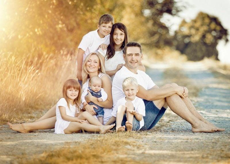 Akt Posen Fotoshooting Familie