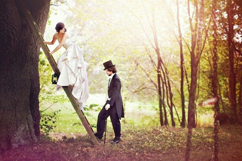 Paar Fotoshooting Outdoor Hochzeit
