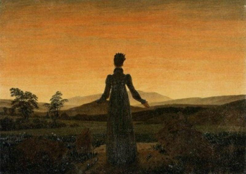 romantische Bilder Frau vor der Morgensonne Caspar David Friedrich