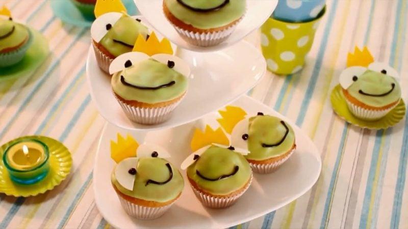Muffins für den Kindergeburtstag Froschkönig