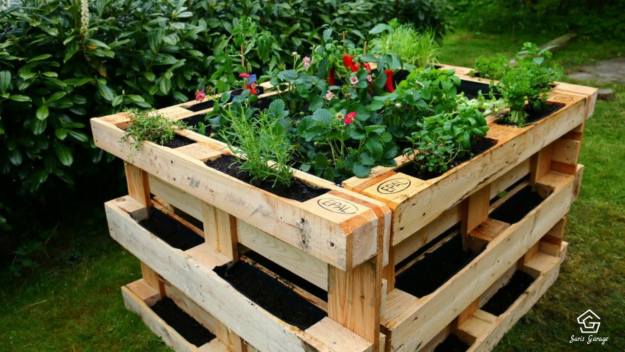Gartenmöbel aus Paletten-Hochbeet aus Europaletten (5)