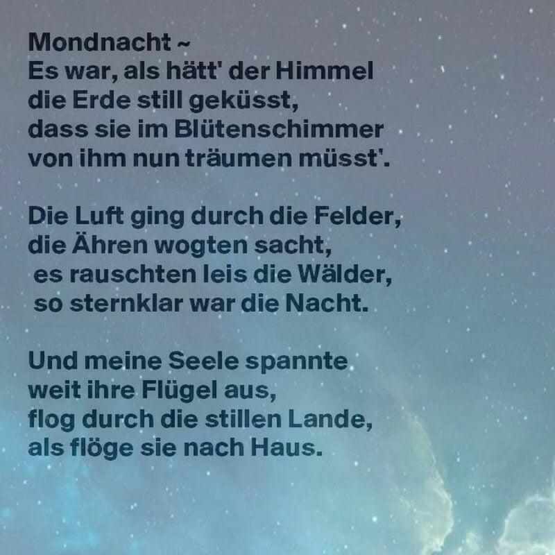 Gedichtsanalyse Romantik Gedicht Mondnacht Eichendorff