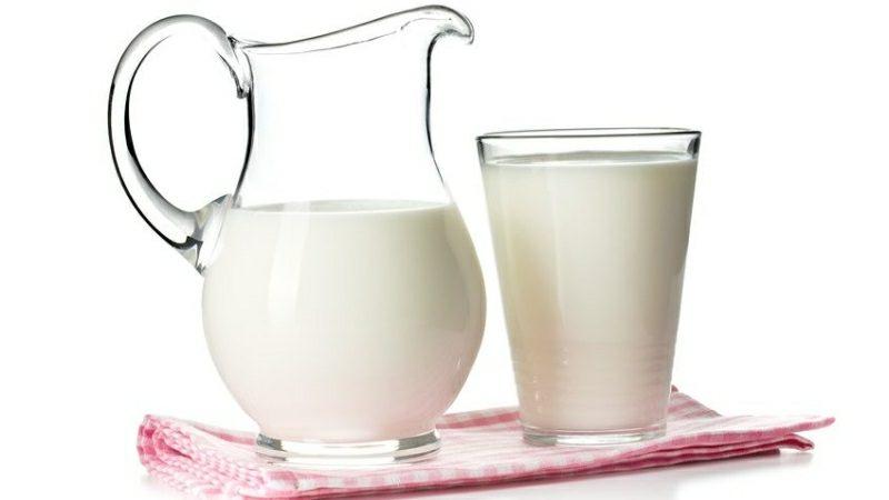glänzende Haare Haarkur mit Milch