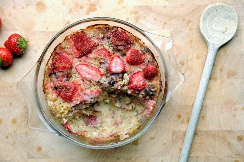 Chia samen abnehmen haferflocken mit Erdbeeren