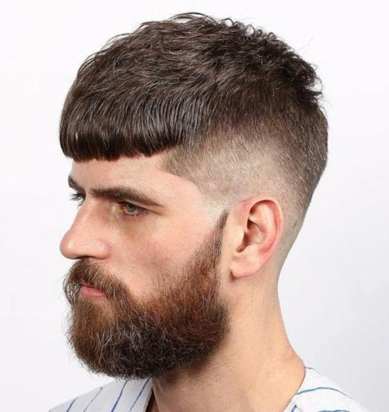 Haartrends 2017 Männer Bold Cut mit Vollbart
