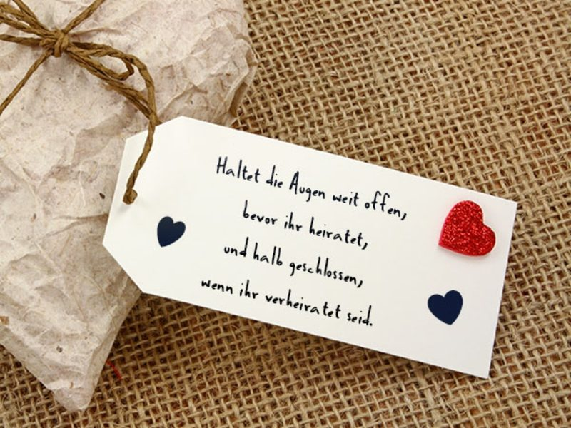 Hochzeitssprüche für Karten – 40 inspirierende Ideen