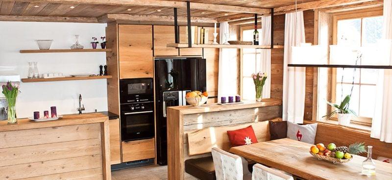 Wohnküche modern Landhausstil