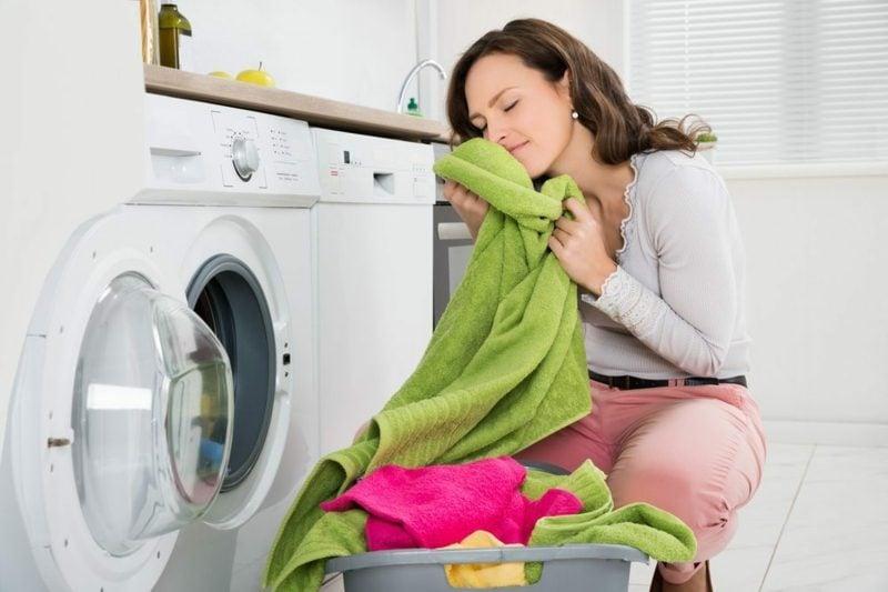 Wäschen die Wäsche trocknen