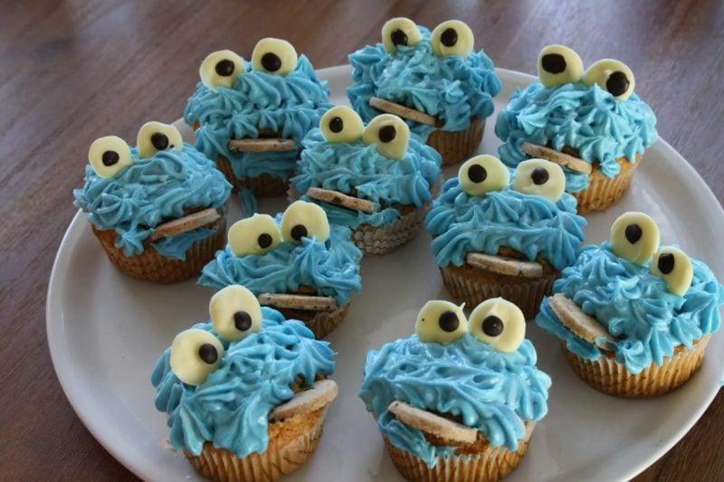 Muffins für den Kindergeburtstag Krümelmonster
