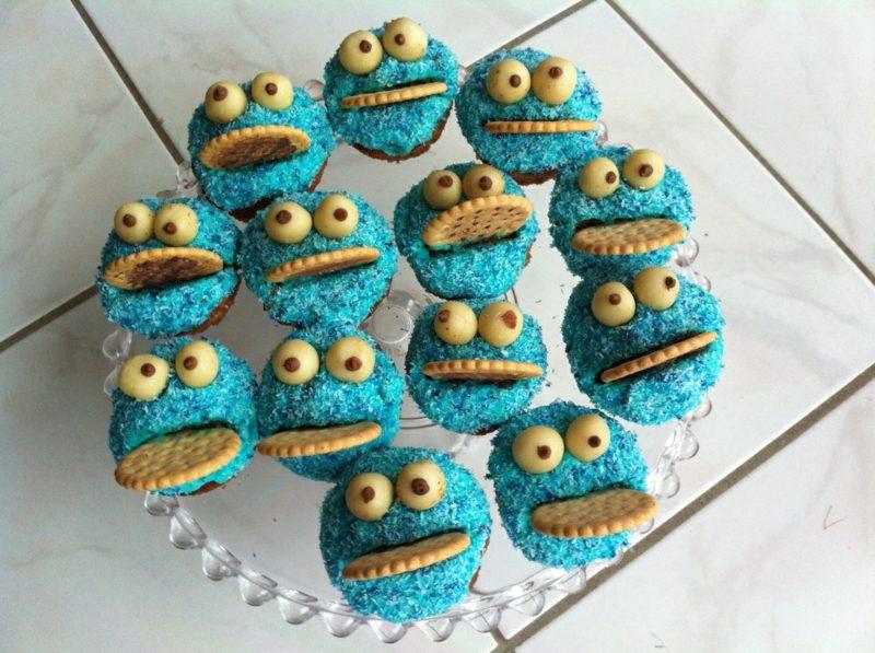 Backen mit Kindern Muffins Krümelmonster