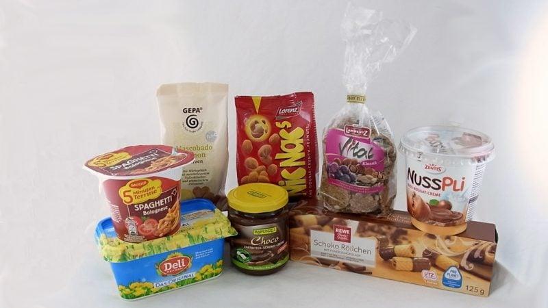 Lebensmittel mit Palmöl