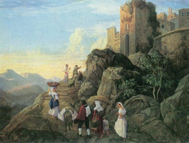 Romantik Epoche Malerei Ludwig Richter Civitella