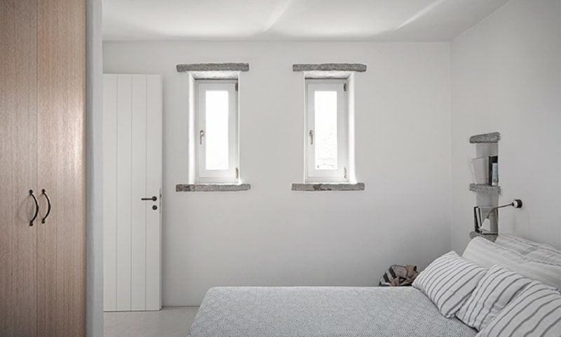 neue Häuser Ferienhaus Kea Insel Schlafzimmer