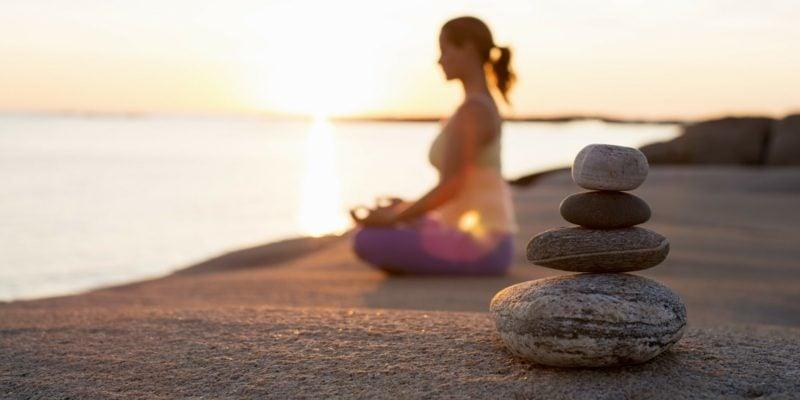Meditation bei Zucken am Auge