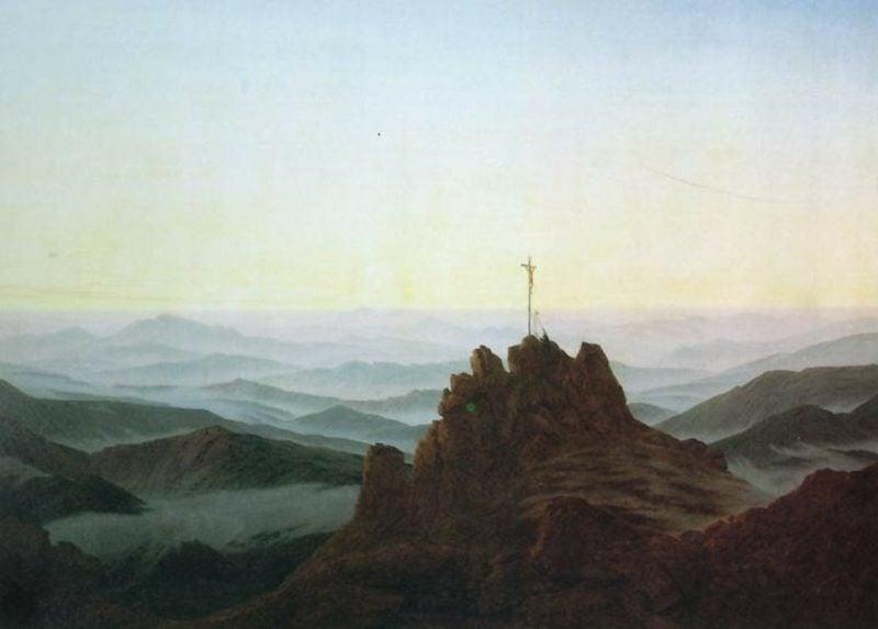 Romantik Kunst Malerei Morgen im Riesengebirge Caspar David Friedrich