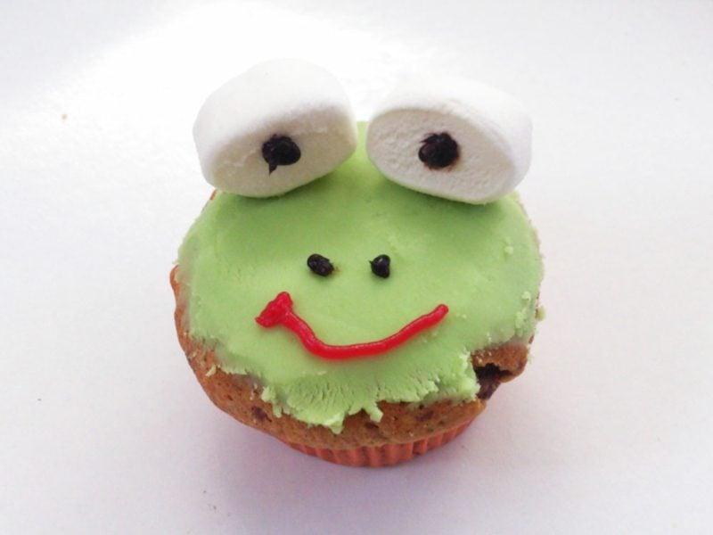 Backen mit Kindern Muffins Frosch