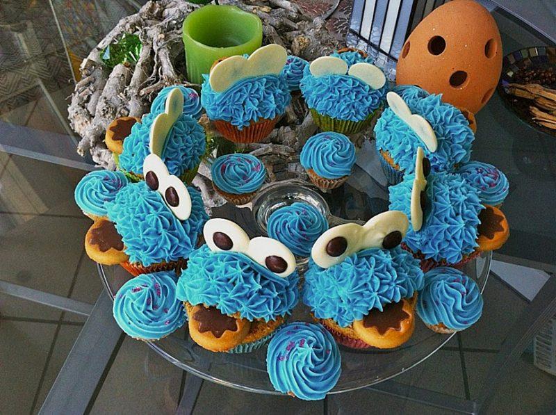 Muffins für Kindergeburtstag Krümelmonster