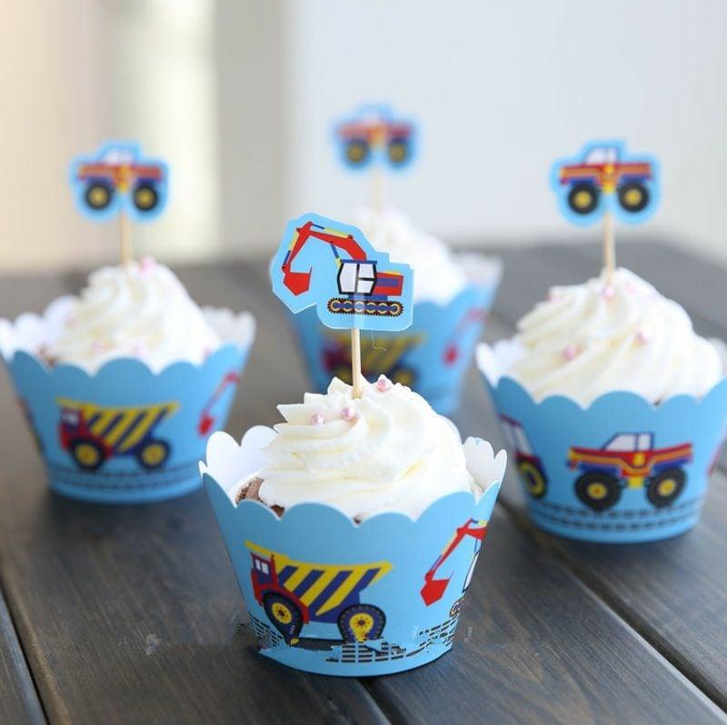 Backen für Kinder Muffins Geurtstag Junge