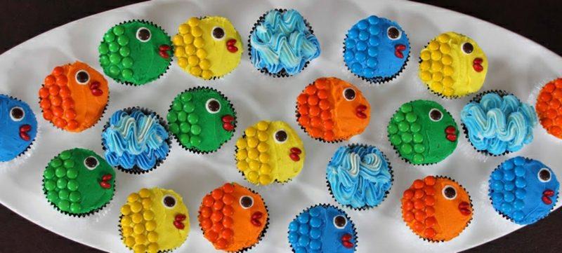 Muffin Rezept Kindergeburtstag Fische