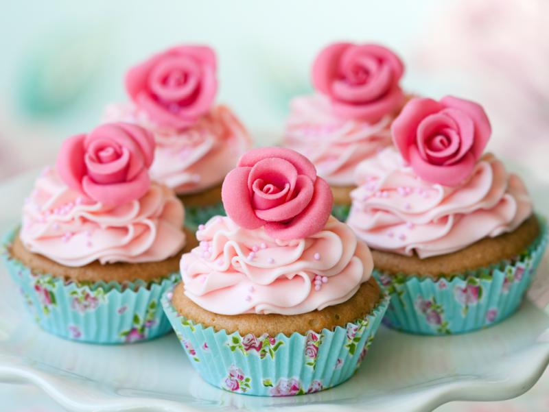 herrliche Muffins mit Zuckerguss