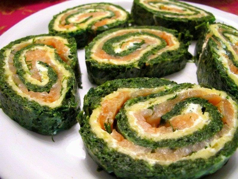 Party Food Rollen mit Lachs und Zucchini