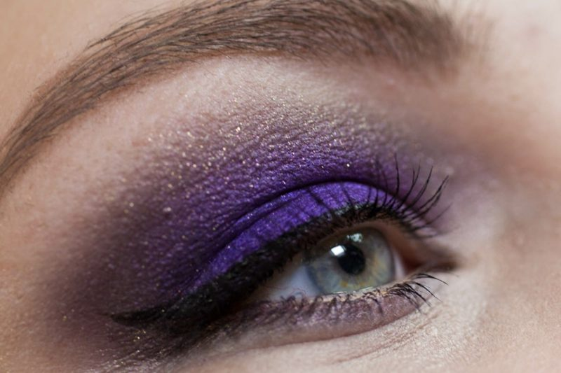 Schmink Tutorial Smokey Eyes lila Lidschatten