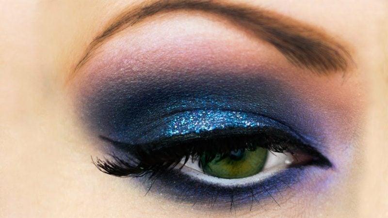 Makeup Tutorial Smokey Eyes blau