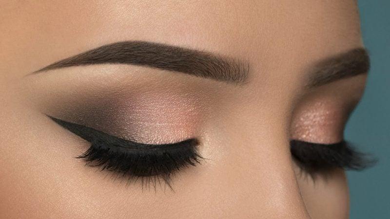 schminken Augen bronze Lidschatten Eyeliner