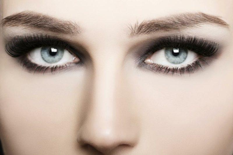 schminken Augen klassische Smokey Eyes
