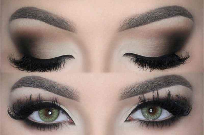 Smokey Eyes hellere variante Tageslook