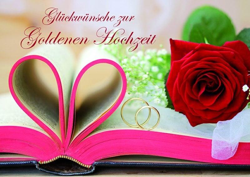 Hochzeitskarte Text goldene Hochzeit