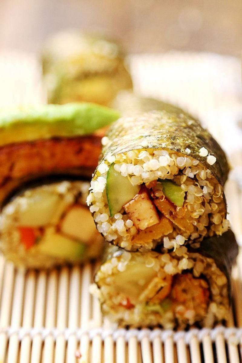 Snacks Party Sushi zubereiten