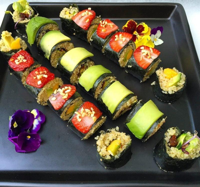 Fingerfood vegetarisch Sushi mit Quinoa