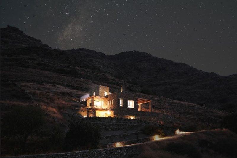 Traumhäuser Kea Insel Nachtbeleuchtung