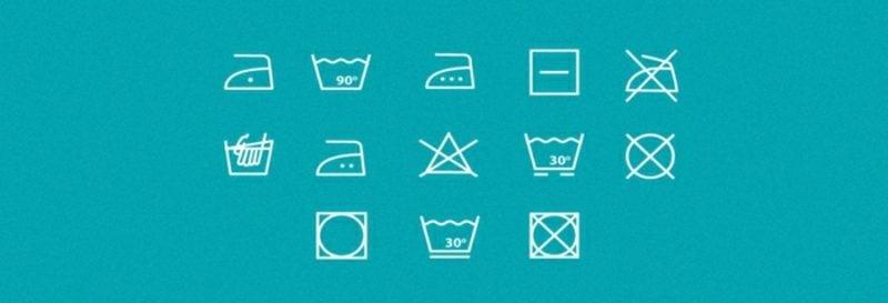 Waschmaschine Zeichen Piktogrammen