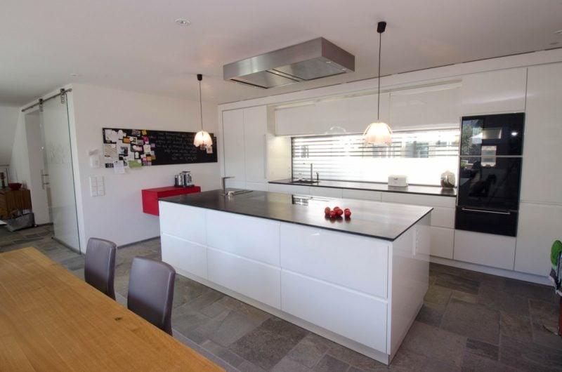 Küche mit Kochinsel Grundriss