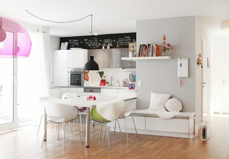 Thekentisch Küche offen modern und praktisch gestaltet