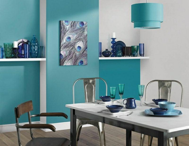 Wohnzimmer mit essbereich ideen  40 moderne Wandfarben Ideen für das Wohnzimmer