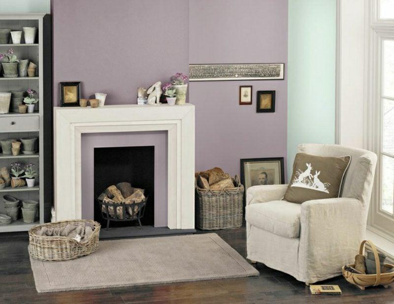 Trendfarben 2017 Lavendel Minzgrün Wohnzimmer Gestaltungsideen