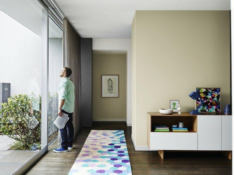 Terraccota Farbe Wand Wohnzimmer