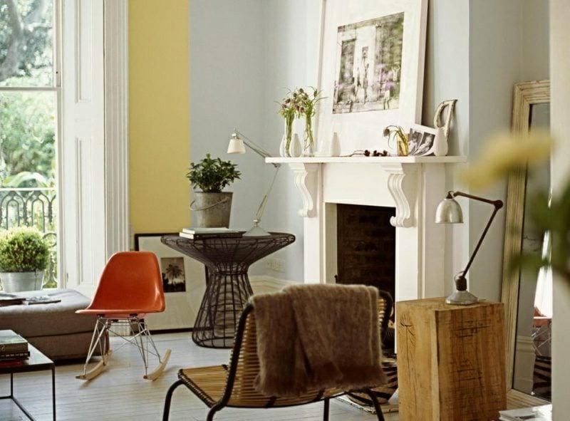 Wandgestaltung Ideen Wohnzimmer zarte Pastellnuancen