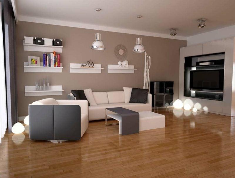 GroBartig Farben Wandgestaltung Wohnzimmer Schokoladenbraun