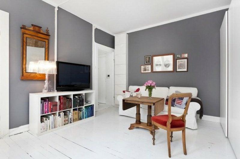 Einrichtung Wohnzimmer skandinavischer Stil neutrale Farbgestaltung